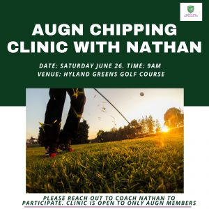 Chipping Golf Clinic June 26, 2021 at Hyland Greens Golf Course